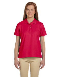 Red Women's Pima Piqué Short-Sleeve Polo