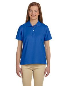 French Blue Women's Pima Piqué Short-Sleeve Polo