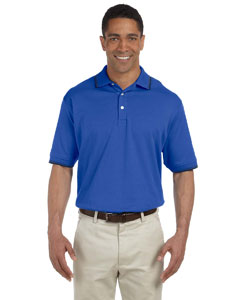 French Blue/navy Men's Tipped Perfect Pima Interlock Polo
