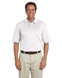 White Men's Solid Perfect Pima Interlock Polo