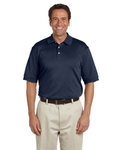 Navy Men's Solid Perfect Pima Interlock Polo