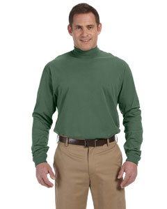 Dill Sueded Cotton Jersey Mock Turtleneck