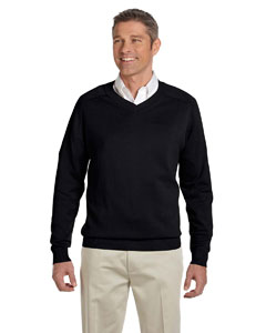 Black Men's V-Neck Sweater