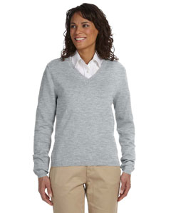 Grey Heather Women's V-Neck Sweater