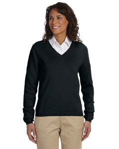 Black Women's V-Neck Sweater