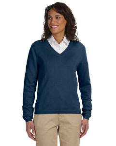 Navy Women's V-Neck Sweater
