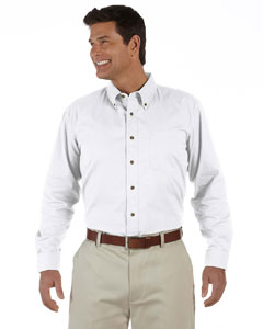 White Men's Long-Sleeve Titan Twill