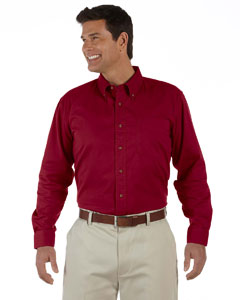 Crimson Men's Long-Sleeve Titan Twill