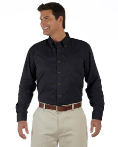 Black Men's Long-Sleeve Titan Twill