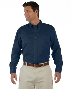 Navy Men's Long-Sleeve Titan Twill