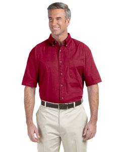 Crimson Men's Short-Sleeve Titan Twill