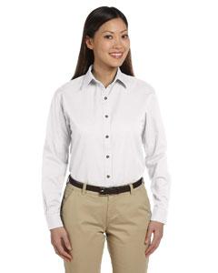 White Women's Long-Sleeve Titan Twill