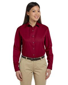 Crimson Women's Long-Sleeve Titan Twill