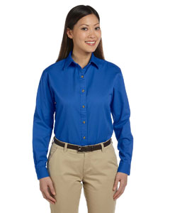French Blue Women's Long-Sleeve Titan Twill