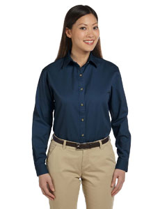 Navy Women's Long-Sleeve Titan Twill