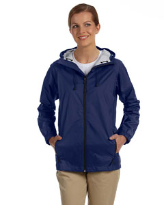 New Navy Women's Nylon Rip-Stop Rain Jacket