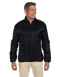 Black Men's Mini Rip-Stop Polyfill Jacket