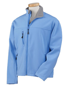 Light Blue Men's Soft Shell Jacket