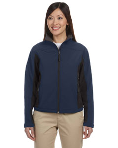 Navy/dk Charcoal Women's Soft Shell Colorblock Jacket