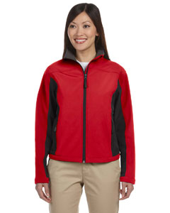 Red/dk Charcoal Women's Soft Shell Colorblock Jacket