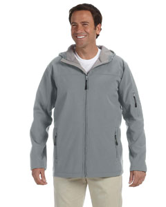 Charcoal Men's Hooded Soft Shell Jacket
