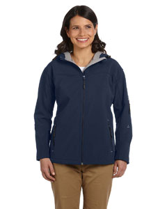Navy Women's Hooded Soft Shell Jacket