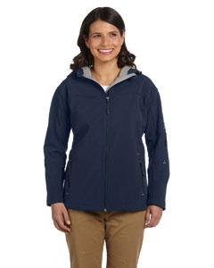 Navy Women's Hooded Soft Shell Jacket