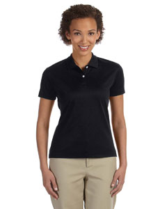 Black Women's Pima-Tech™ Jet Piqué Polo