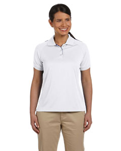 White/new Navy Women's Dri-Fast™ Advantage™ Colorblock Mesh Polo