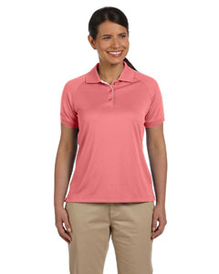 Melon/white Women's Dri-Fast™ Advantage™ Colorblock Mesh Polo