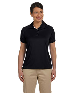 Black/white Women's Dri-Fast™ Advantage™ Colorblock Mesh Polo