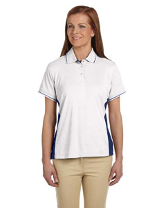 White/new Navy Women's Dri-Fast™ Advantage™ Piqué Polo