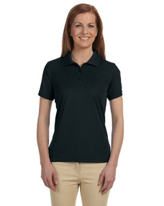 Black Women's Dri-Fast™ Advantage™ Solid Mesh Polo