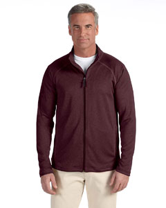 Burgundy Heather Men's Stretch Tech-Shell™ Compass Full-Zip
