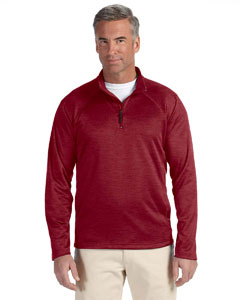 Burgundy Heather Men's Stretch Tech-Shell™ Compass Quarter-Zip