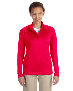 Red Women's Stretch Tech-Shell™ Compass Quarter-Zip