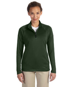 Forest Heather Women's Stretch Tech-Shell™ Compass Quarter-Zip