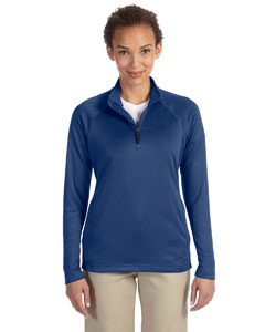 French Blue Hthr Women's Stretch Tech-Shell™ Compass Quarter-Zip