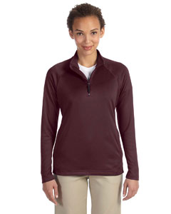 Burgundy Heather Women's Stretch Tech-Shell™ Compass Quarter-Zip