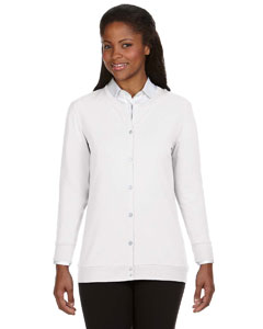White Women's Perfect Fit™ Ribbon Cardigan