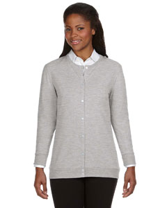 Heather Grey Women's Perfect Fit™ Ribbon Cardigan