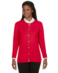 Red Women's Perfect Fit™ Ribbon Cardigan