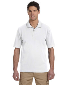 White 6.5 oz., 100% Organic Cotton Pique Polo
