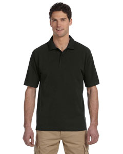 Black 6.5 oz., 100% Organic Cotton Pique Polo