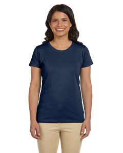 Navy Women's 4.4 oz., 100% Organic Cotton Short-Sleeve T-Shirt
