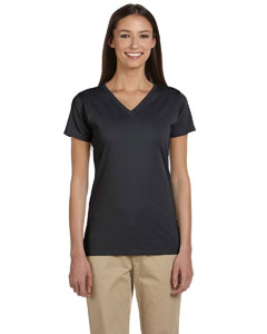 Charcoal Women's 4.4 oz., 100% Organic Cotton Short-Sleeve V-Neck T-Shirt