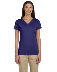 Iris Women's 4.4 oz., 100% Organic Cotton Short-Sleeve V-Neck T-Shirt
