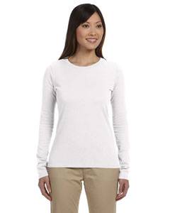 White Women's 4.4 oz., 100% Organic Cotton Long-Sleeve T-Shirt