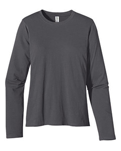 Charcoal Women's 4.4 oz., 100% Organic Cotton Long-Sleeve T-Shirt