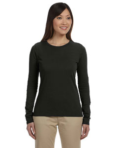 Black Women's 4.4 oz., 100% Organic Cotton Long-Sleeve T-Shirt